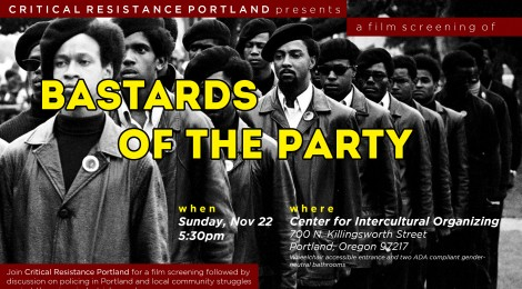 November 22, Portland Film Screening and Discussion
