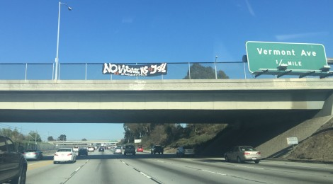 Freeway Banners Across LA: #nomorejails | Support Now on Social Media