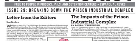 "Issue 29 of The Abolitionist newspaper, ""Breaking Down the Prison Industrial Complex"""