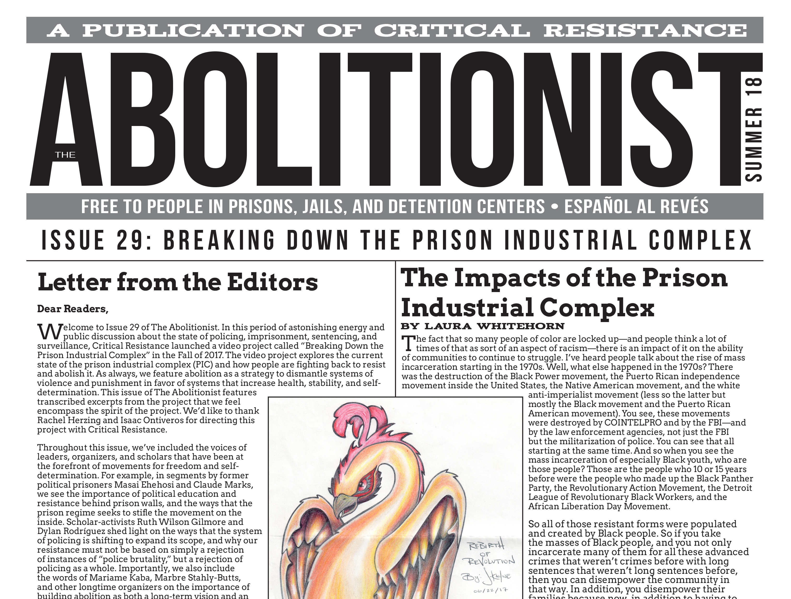 Issue 29 of The Abolitionist Paper! – Critical Resistance