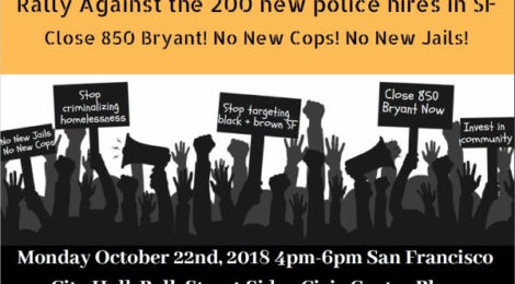 Monday Oct 22 in SF: Close 850 Bryant!